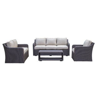 Danby Sofa & Loveseat 4 Piece Deep Seating Group with Cushion