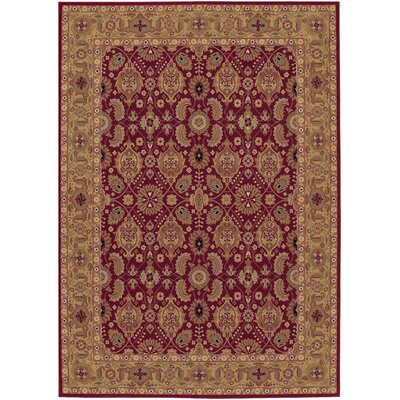 Edwards Red Area Rug Rug Size: Rectangle 66 x 910
