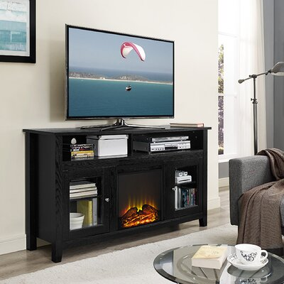Isabel Highboy TV Stand with Electric Fireplace Finish: Barnwood
