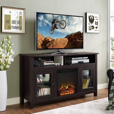 Isabel Highboy 58 TV Stand with Fireplace Color: Espresso