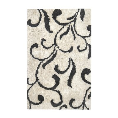 Eddyville Carrolltown Hand-Tufted Ivory/Gray Area Rug Rug Size: Rectangle 8 x 10