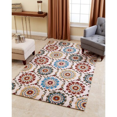 Claysville Hand-Tufted Maroon Area Rug Rug Size: 5 x 8