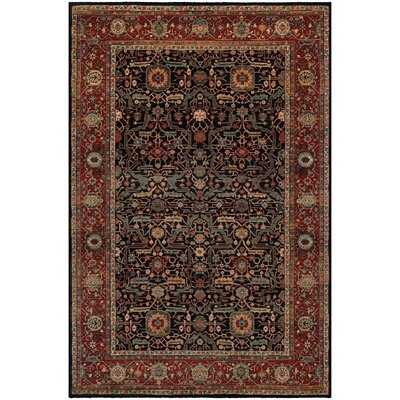 Cobleskill Navy/Rust Area Rug Rug Size: Rectangle 53 x 76