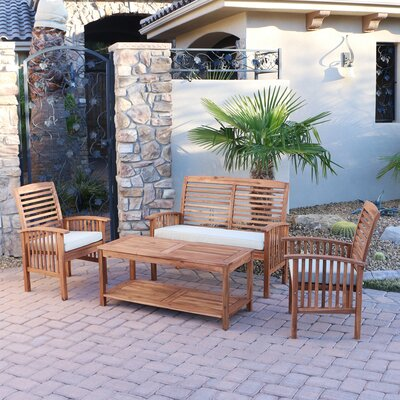 Widmer Patio Loveseat Finish: Brown