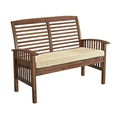 Widmer Patio Loveseat Finish: Dark Brown