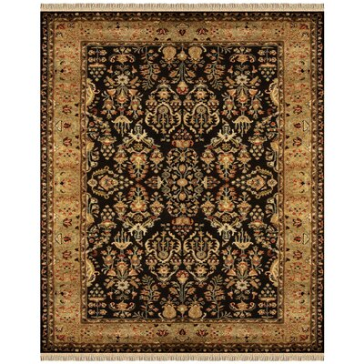 Carnbore Tufted Wool Black Area Rug Rug Size: Rectangle 36 x 56