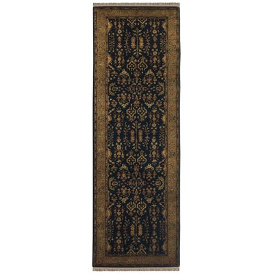 Carnbore Tufted Wool Black Area Rug Rug Size: Runner 23 x 8