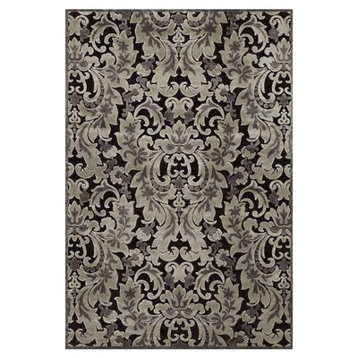 Castalia Black/Gray Area Rug Rug Size: Rectangle 53 x 76