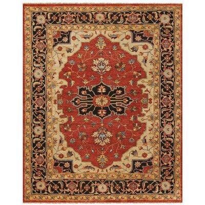 Castine Red/Black Area Rug Rug Size: 79 x 99