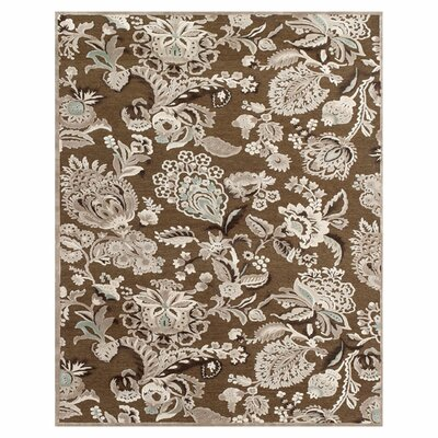 Castleford Coffee/Gray Area Rug Rug Size: Rectangle 53 x 76