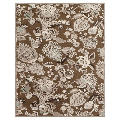 Castleford Coffee/Gray Area Rug Rug Size: 53 x 76