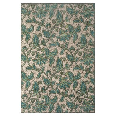 Snydertown Green/Grey Area Rug Rug Size: Rectangle 76 x 106