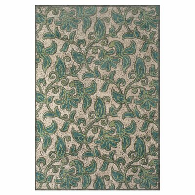 Snydertown Green/Grey Area Rug Rug Size: 5'3 x 7'6