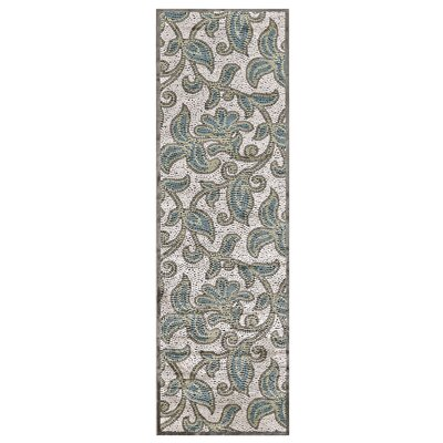 Snydertown Green/Grey Area Rug Rug Size: Runner 26 x 8