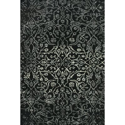 Somers Black/White Area Rug Rug Size: 36 x 56