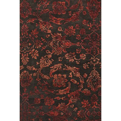 Sommerfield Tufted Wool Chocolate/Red Area Rug Rug Size: Rectangle 36 x 56