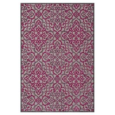 Sorrento Pink Area Rug Rug Size: 76 x 106