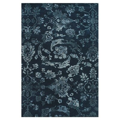 Southampton Tufted Wool Navy Area Rug Rug Size: Rectangle 5 x 8