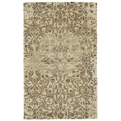 Southbury Wool Ivory/Gold Area Rug Rug Size: Rectangle 5 x 8
