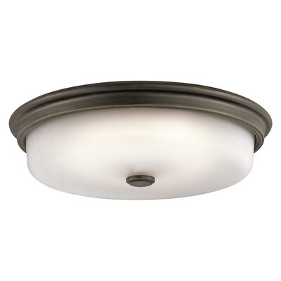 Landau 1-Light Flush Mount Finish: Olde Bronze