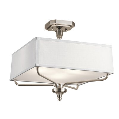 Laurence 3-Light Semi Flush Mount Finish: Classic Pewter