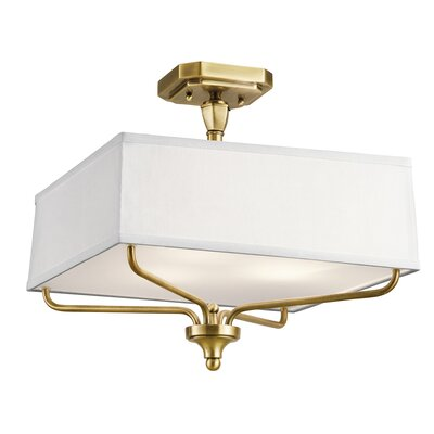 Laurence 3-Light Semi Flush Mount Finish: Natural Brass
