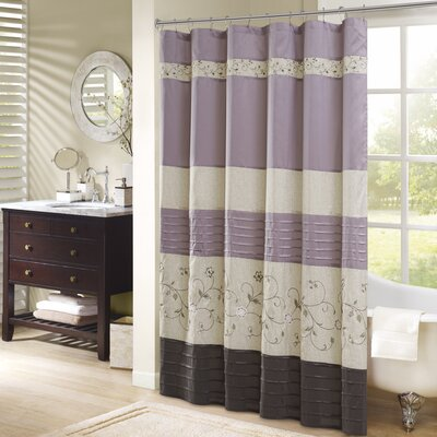 Willshire Shower Curtain Color: Purple, Size: 72 H x 72 W