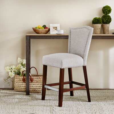 Newville 24.5 Bar Stool Upholstery: Gray