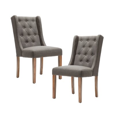 Maxwell Side Chair Upholstery: Charcoal