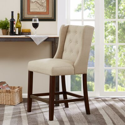 Maxwell 25 Bar Stool Upholstery: Cream