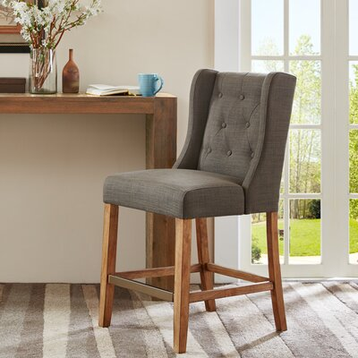 Maxwell 25 Bar Stool Upholstery: Charcoal