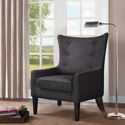 Chancey Shelter Wingback Chair Upholstery: Charcoal