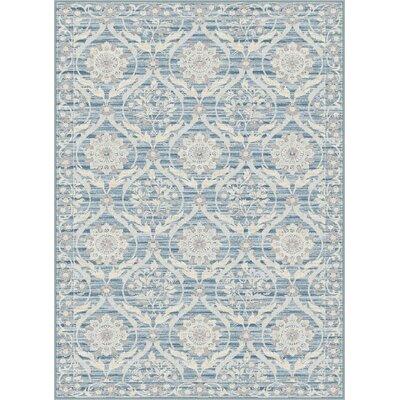 Dixon Light Blue Area Rug Rug Size: 52 x 76
