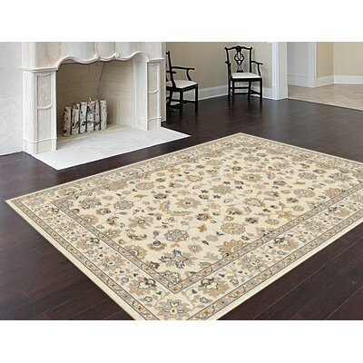 Joan Cream Area Rug Rug Size: 53 x 73