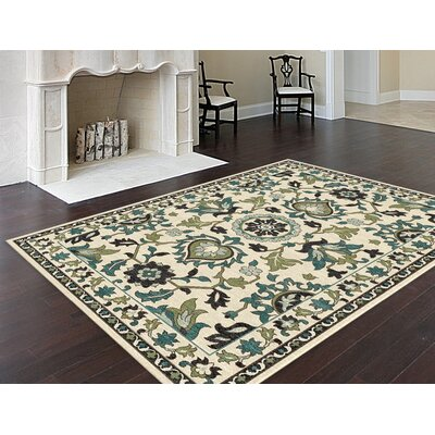 Joan Green Area Rug Rug Size: 5'3 x 7'3