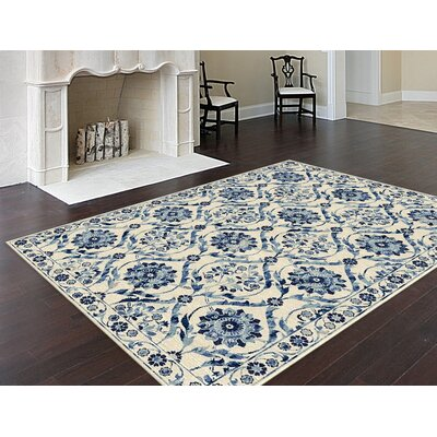 Joan Cream Area Rug Rug Size: 5'3 x 7'3