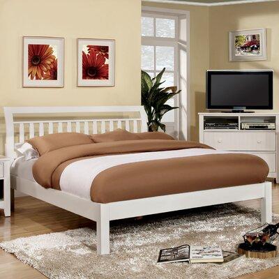 Auburn King Platform Bed Upholstery: White