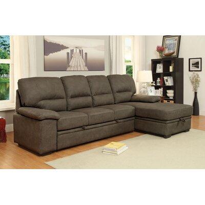 Lynchburg Sleeper Sectional Upholstery: Ash Brown