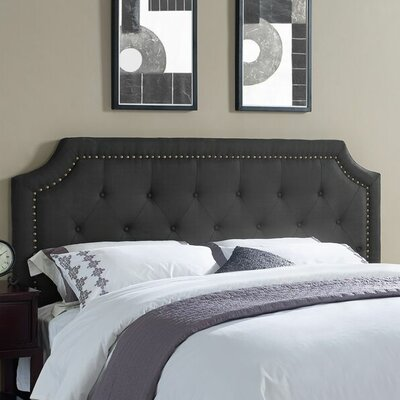 Miltonsburg Upholstered Panel Headboard Size: Queen, Upholstery: Black