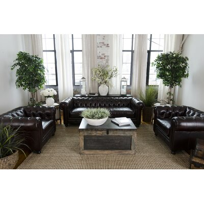 Fiske Top Grain Leather Living Room Collection