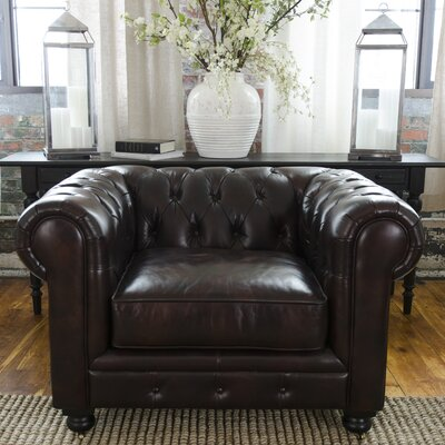 Fiske Top Grain Leather Standard Armchair