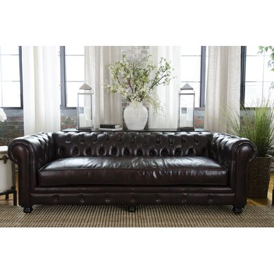 Fiske Leather Sofa