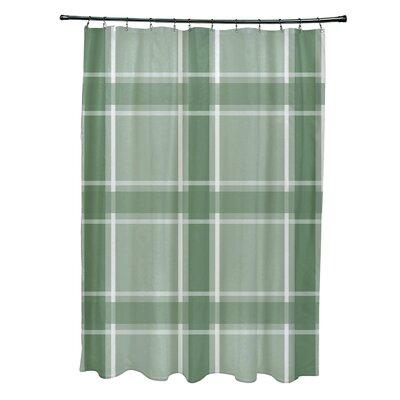 Nicholson Plaid Shower Curtain Color: Green