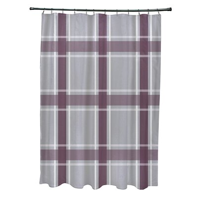 Nicholson Plaid Shower Curtain Color: Gray/Purple
