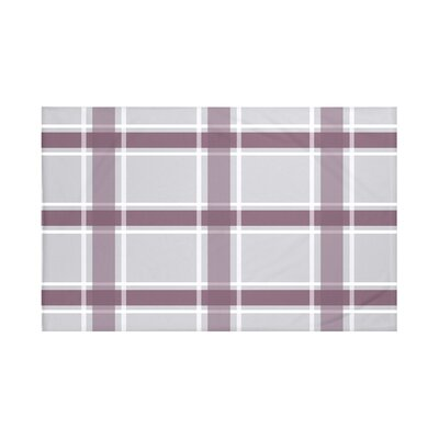 Reuben Plaid Print Throw Blanket Size: 60 L x 50 W, Color: Bordeaux (Gray/Purple)