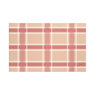 Reuben Plaid Print Throw Blanket Size: 60 L x 50 W, Color: Burnt (Taupe/Coral)