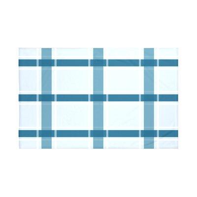 Reuben Plaid Print Throw Blanket Size: 60 L x 50 W, Color: Teal (Light Blue/Teal)