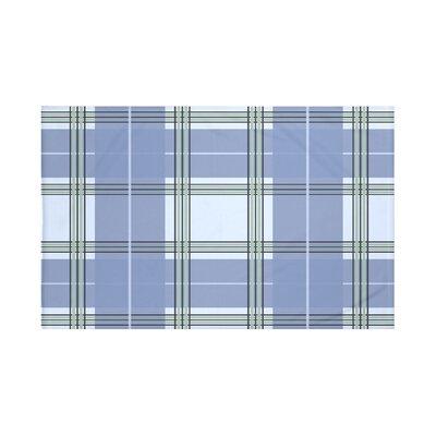 Burton Plaid Print Throw Blanket Size: 60 L x 50 W, Color: Cadet (Light Blue/Blue)