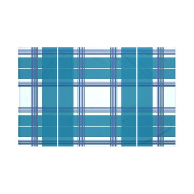 Burton Plaid Print Throw Blanket Size: 60 L x 50 W, Color: Teal (Light Blue/Teal)
