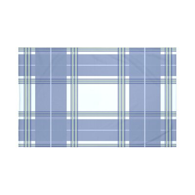 Burton Plaid Print Throw Blanket Size: 60 L x 50 W, Color: Washed Out (Light Blue/Blue)